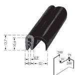 Kantafwerkprofiel - plaatdikte: 2-4 mm-BxH: 13.7x21 mm zwart