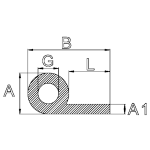 Kraalprofiel P-profiel rubber 58-20-7-6-35 mm