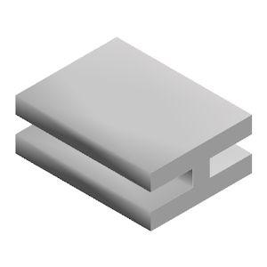H-profiel Rubber 8-8-3-20-12 mm