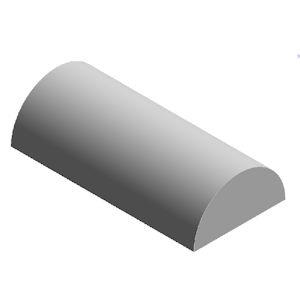 rubber halfrond profiel 17-8 mm