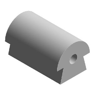 Paddestoelprofiel rubber 12-9-8-14-6-gat 5 mm