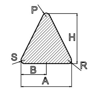 siliconen driehoekprofiel massief