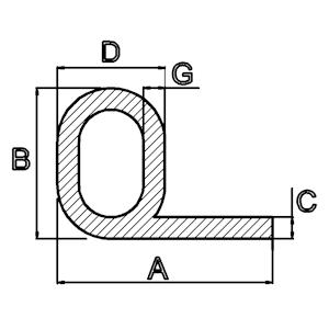 silicone kraalprofiel rubber