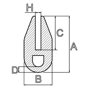 siliconen u-profiel met luchtkamer