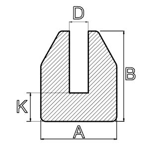 siliconen stootprofiel u vorm