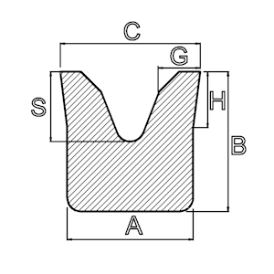 siliconen v profiel