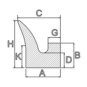 siliconenrubber v profielen