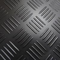 Voerrubber Checkermat zwart