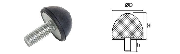 rubber stootdempers