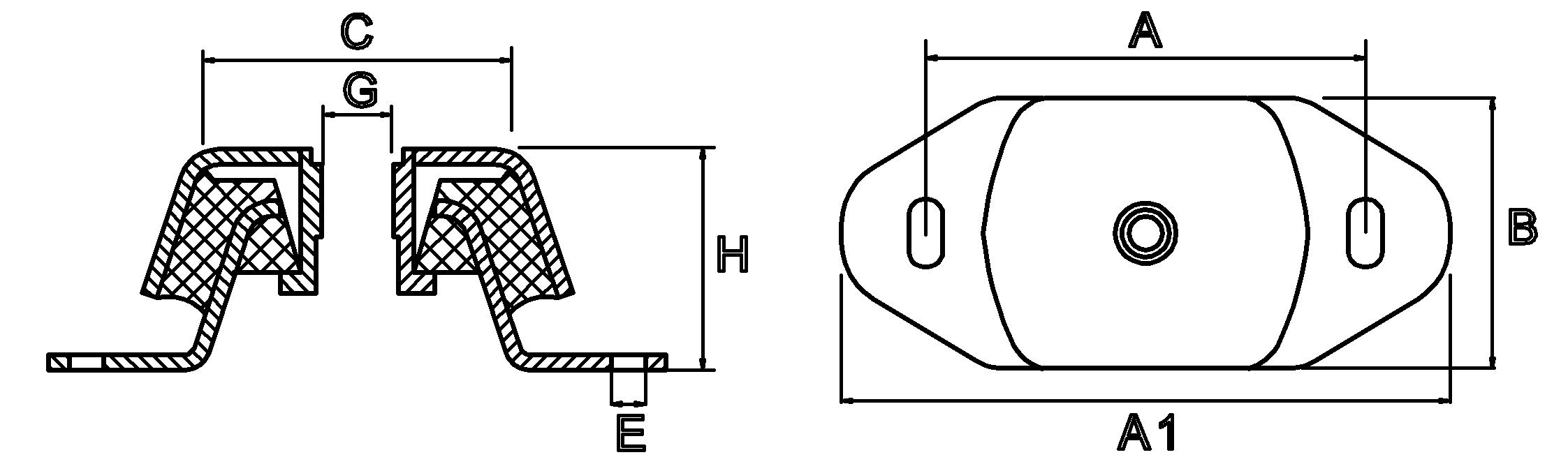 rubber motorsteunen